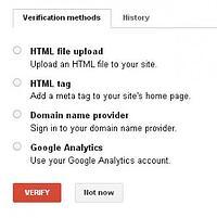 Verify Webmaster Tools