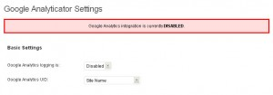 Activate Google Analyticator